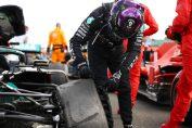 <b>Ganó Hamilton, con una rueda pinchadada</b>